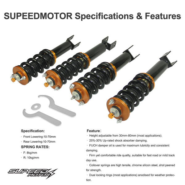 Coilovers Suspension Kit Fit Honda S2000 Roadster AP1 AP2 99-09 Shock Front+Rear