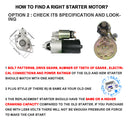 New Starter Motor for Ford Falcon XR8 BA BF 5.4L V8 Boss 260 2002-2008 Starters