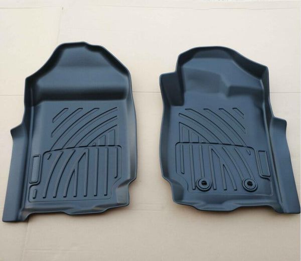 For Ford Ranger PX PX2 PX3 2011-2019 3D Front Black Rubber Floor Mats