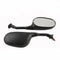 Motorcycle Mirrors Pair Black With 10mm-M10 Screw Type Fixing