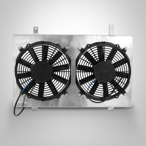Aluminum Radiator Fan Shroud for Nissan Skyline R33 GTST RB25DET R34 GTT+Bottles