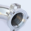 "2.75"" STAINLESS STEEL EXHAUST FRONT PIPE DOWNPIPE FOR FORD FOCUS ST225 ST 225 RS"