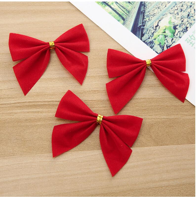 Mini Bows Bowknot Christmas Tree Ornaments XMAS Holiday Party Garden Home Decor
