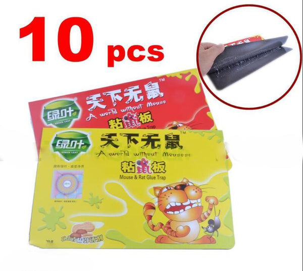 10pcs strong Sticky Mouse Rat Snake Bugs Mice Trap Catcher Board Rodent Trapping