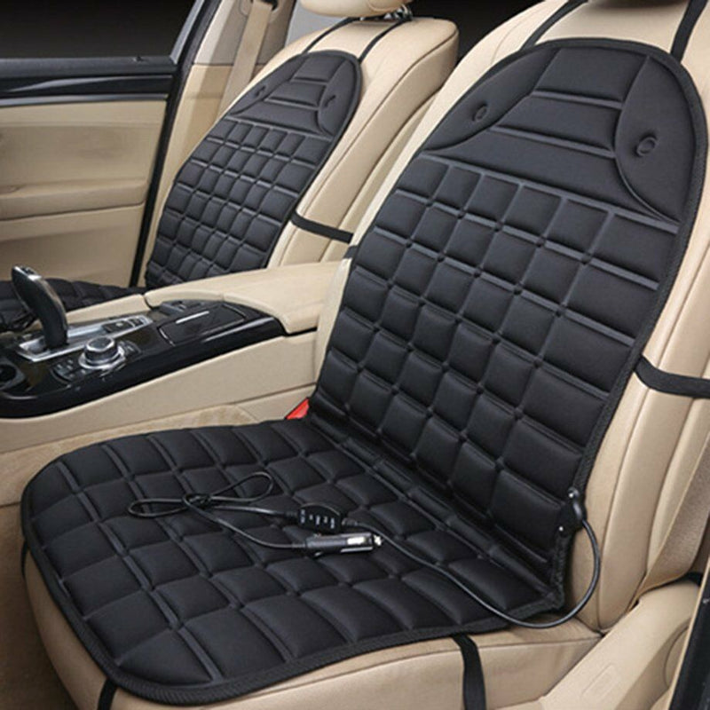FITS Durable Car Seat Heated Cover 12V Front Seat Heater Auto Winter Warmer Cushion U