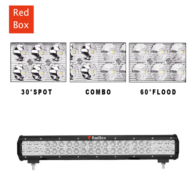 Cree LED Car Light Bars Flood Spot Combo 4X4 Offroad Work Driving 4WD 20inch