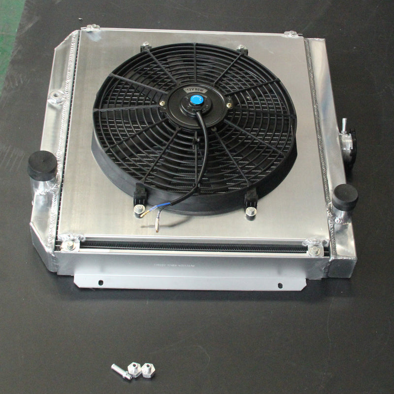 Aluminum Radiator+Fan Shroud FOR FORD FALCON XR XT XW XY WINDSOR 289 302 351