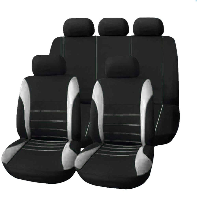 Universal Car Seat Cover 9 Set Full Seat Covers fits Crossovers Sedans