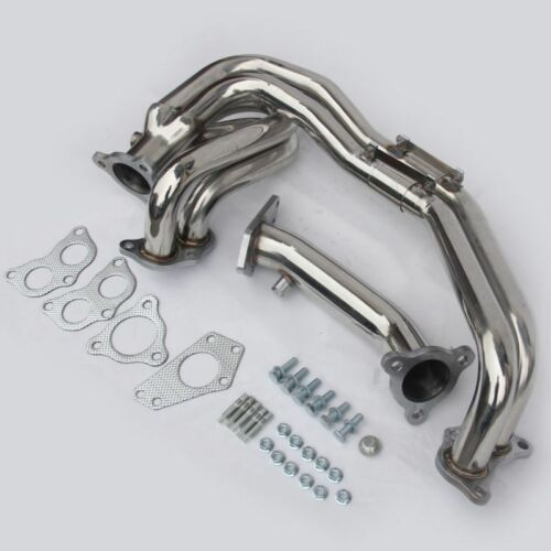 3 BOLT EXHAUST MANIFOLD & UP PIPE Fits Subaru Impreza EJ20 GDA STAINLESS STEEL