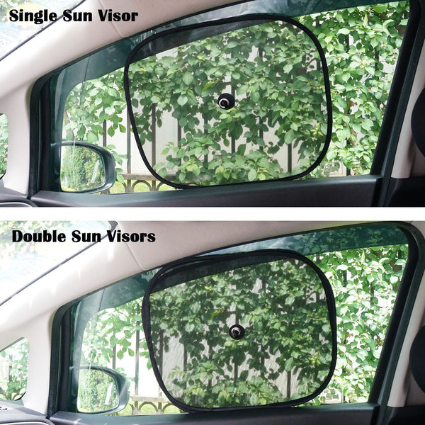 2x Universal Car Rear Side Window Sun Shade Mesh SUV UV Protection Large