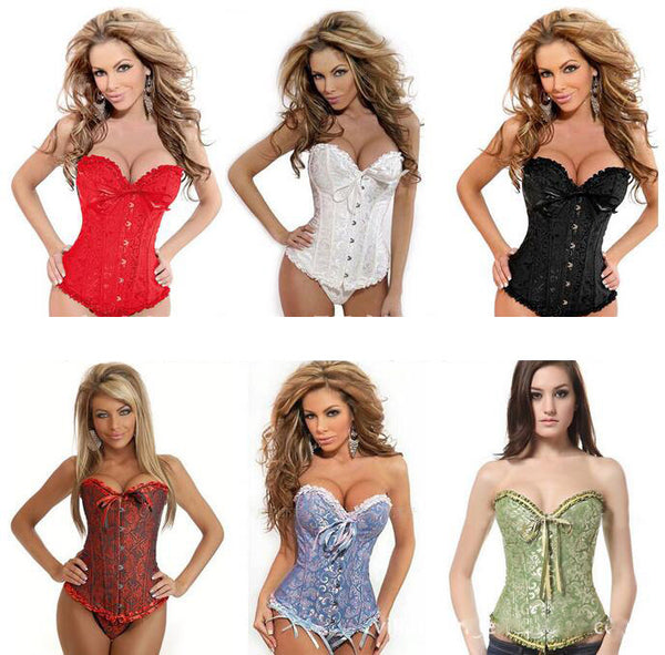 Fits Women Waist Tops Lace Up Corset Body Shaper Sexy Lingerie