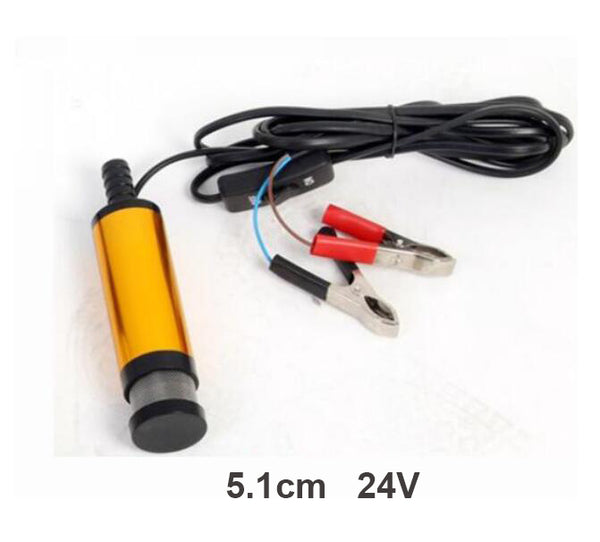 24V FUEL WATER DIESEL TRANSFER PUMP/FILTER SUBMERSIBLE PORTABLE CLIP ON BATTERY