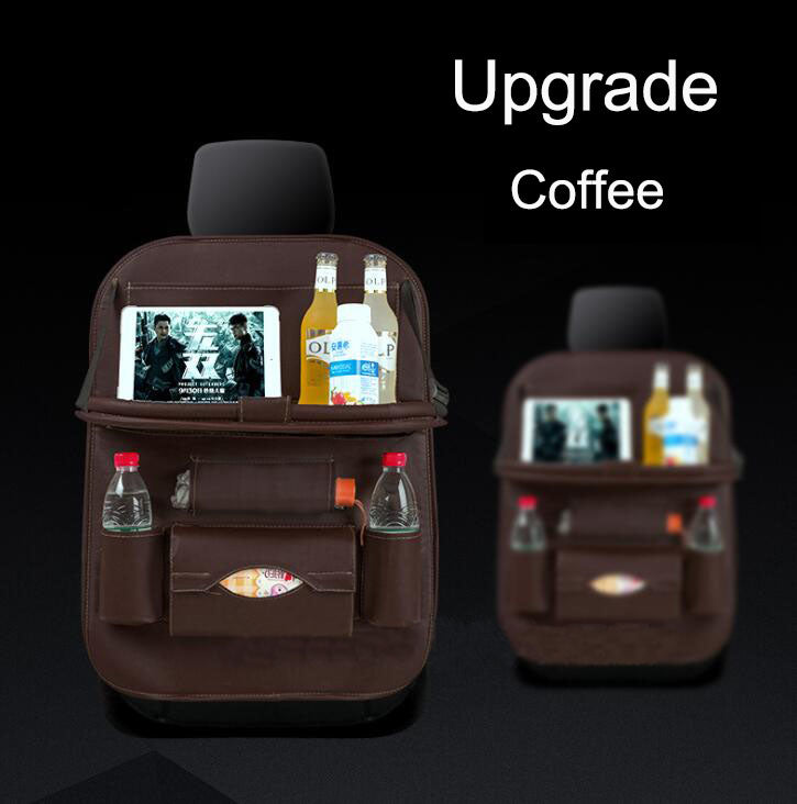 1pcs CoffeeCar Seat Back Organiser Storage Bag Foldable Table Tray Cup Holder