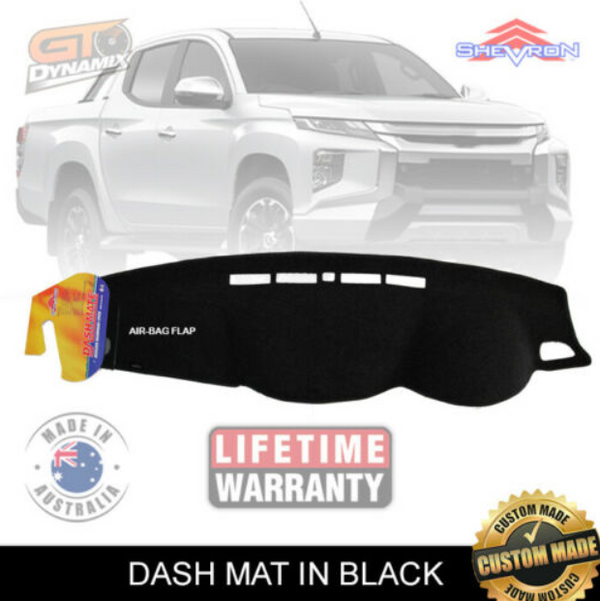 DASH MAT fits Nissan Navara D23 NP300 ST-X ST MARCH/2015-2019 BLACK DM1390 STX
