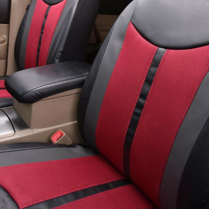 FITS New Delux faux leather car seat covers 2 fronts set
