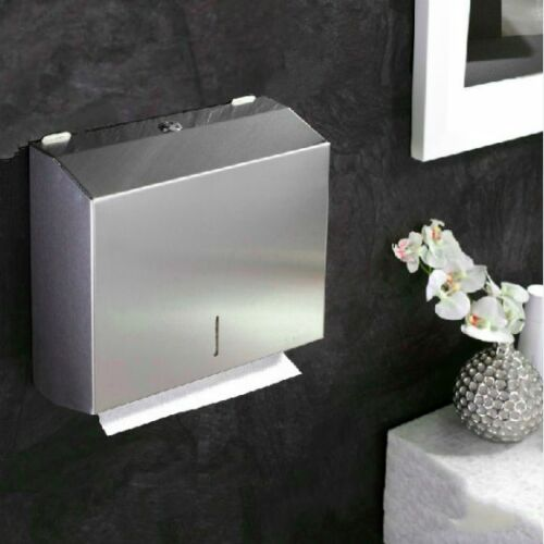 304 Stainless Steel Heavy Duty Hand Paper Towel Dispenser Holder Toilet