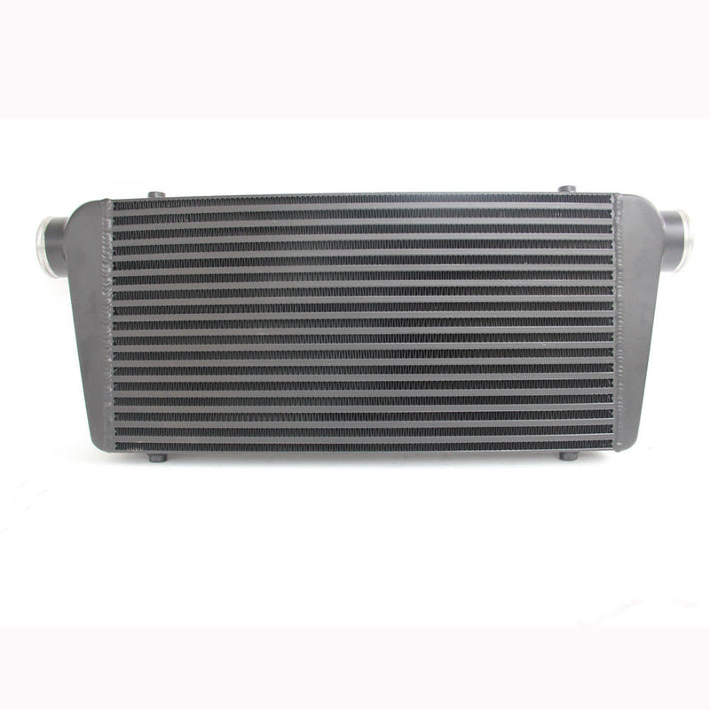 UNIVERSAL FRONT MOUNT 600 x 300 x76 Bar and Plate INTERCOOLER BLACK PAINTED