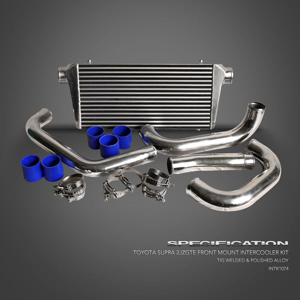 INTERCOOLER KIT FOR 1993-2002 TOYOTA SUPRA JZA80 2JZ-GTE TWIN TURBO FRONT MOUNT