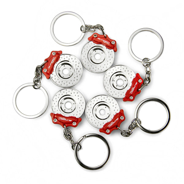 Disc Brake Keychains Creative DIY Funny Keyrings Red 5pcs per lot Free Postage