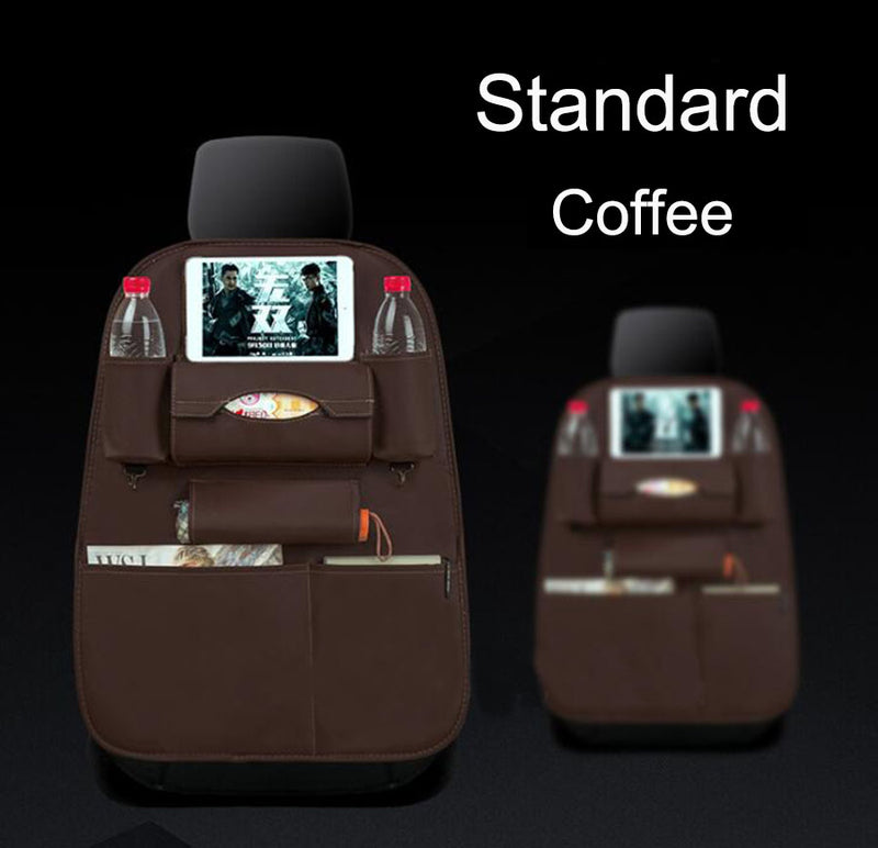 2PCS Car Back Seat Organiser Travel Storage Bag Organizer Pocket Holder Coffee