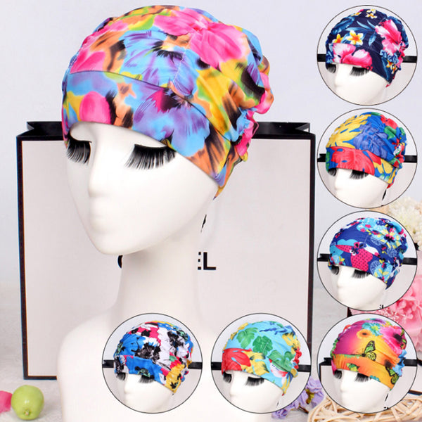 2 X Women Free size Swimming Cap Pool Bathing Hats Sports Swim Pool Elastic Hat
