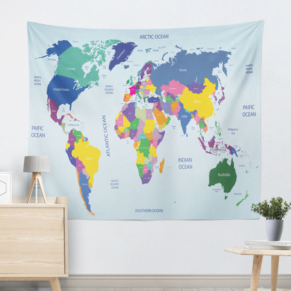 MAP OF THE WORLD LAMINATED LARGE POSTER 130*150CM / 200*150CM FLAGS WALL PRINT