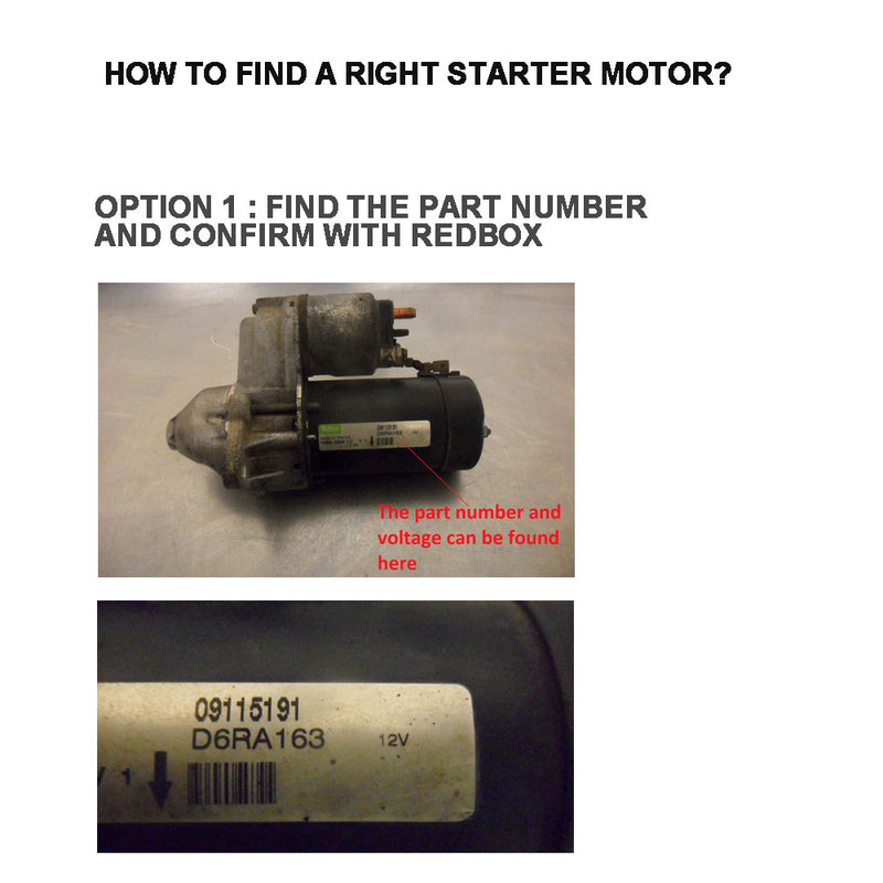 Starter Motor fits LAND ROVER DISCOVERY 2.5L DIESEL 1999 TO 2002 TD5 SERIES 2