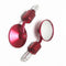 RED ROUND UNIVERSAL MOTORCYCLE BAR END MIRRORS BIKE/MOTORBIKE REARVIEW