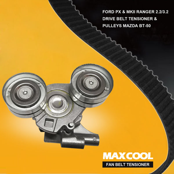 Ford PX & MKII Ranger 2.2/3.2 Drive Belt Tensioner & Pulleys Mazda BT-50
