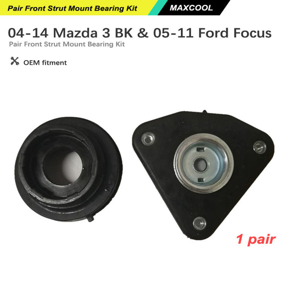Pair Front Strut Mount Bearing Kit Fit for Mazda 3 BK 04-14 Ford Focus LS 05-11