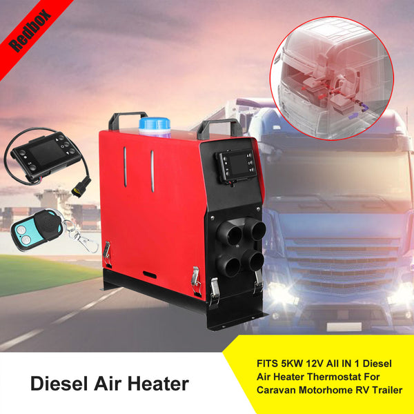 5KW 12V All IN 1 Diesel Air Heater Thermostat For Caravan Motorhome RV Trailer
