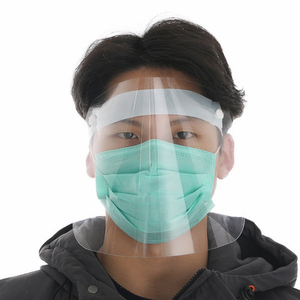 FITS Dental Full Face Shield Mask Clear Protective Film Flip Up Visor Safety Cover