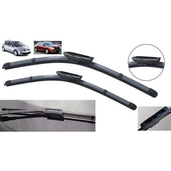"RENAULT MEGANE 2006 - 2008 BRAND NEW FRONT WINDSCREEN WIPER BLADES 24""18"""