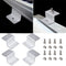 4PCS Set Solar Panel Z Bracket Aluminum Alloy Mounting Mount Flat Roof Wall