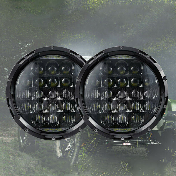 Pair 7 inch 200W CREE Round LED Headlights Kit For Jeep Wrangler TJ JK 97-17