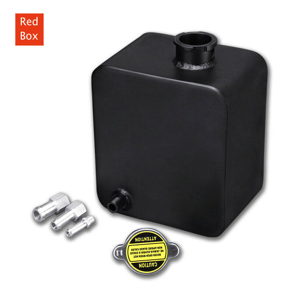 Universal 2L black painted Aluminium Alloy Header Expansion Water Tank with Cap