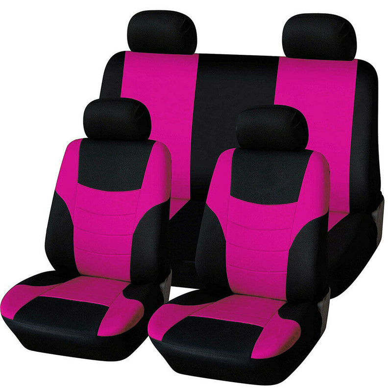 FITS Car Seat Cover 8Pcs/Set 100% Breathable 4 Season For Most Cars