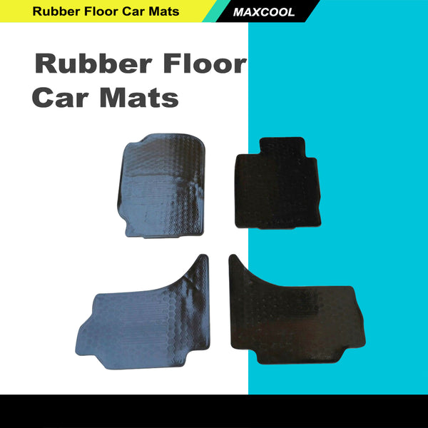 Rugged Rubber Floor Mats Tailored Heavy Duty for Mitsubishi Triton 06-14 MN ML