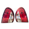 Fits Left and Right Tail lamp a set to suit Daewoo Lanos 1997 - 2003 Sedan