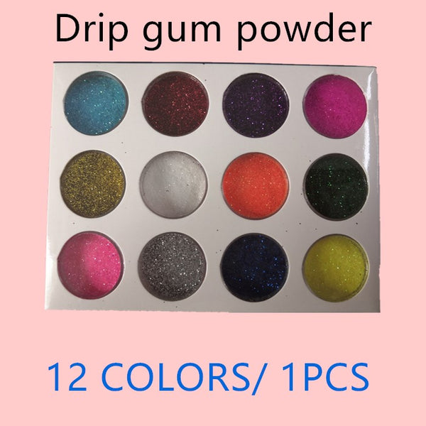 FITS Mixed Colors Nail Art Glitter Powder Dust Acrylic UV Gel DIY Tips Decoration Set