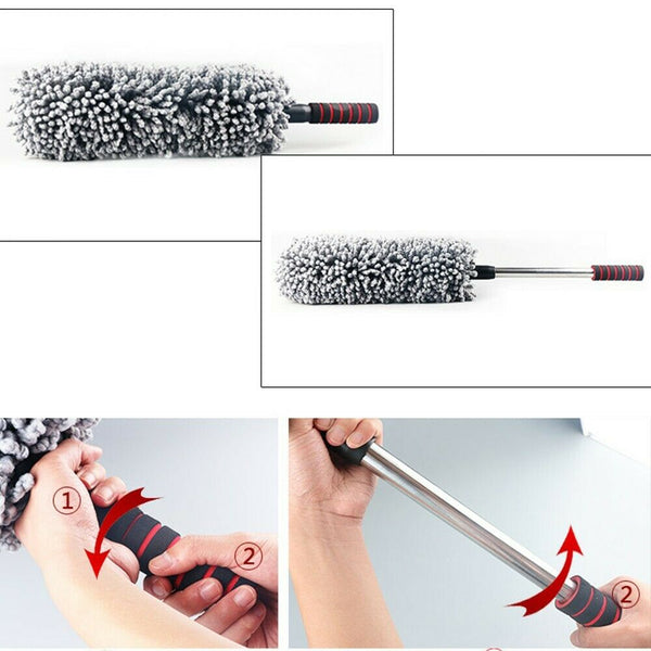 Car Fiber Retractable Wax BrushMop Dust Brush Care Cleaning Products