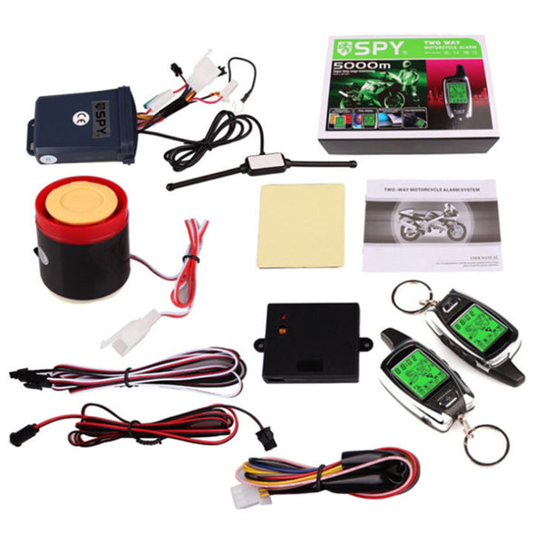 FIT SPY 5000 MOTORBIKE MOTORCYCLE ALARM&IMMOBILISER 2 WAY LCD PAGER REMOTE START