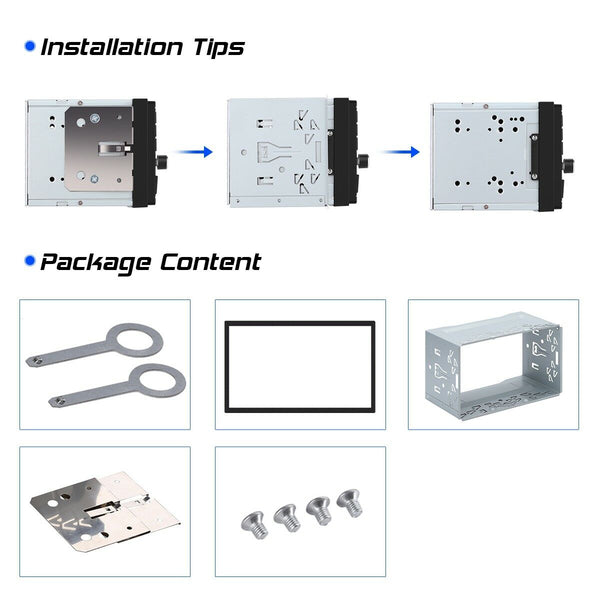 2Din Fitting Kit Radio Excelvan Universal Double Headunit Fits Xtrons Eonon