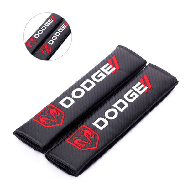 2x carbon fibre seat belt cushion cover pads for for Dodge