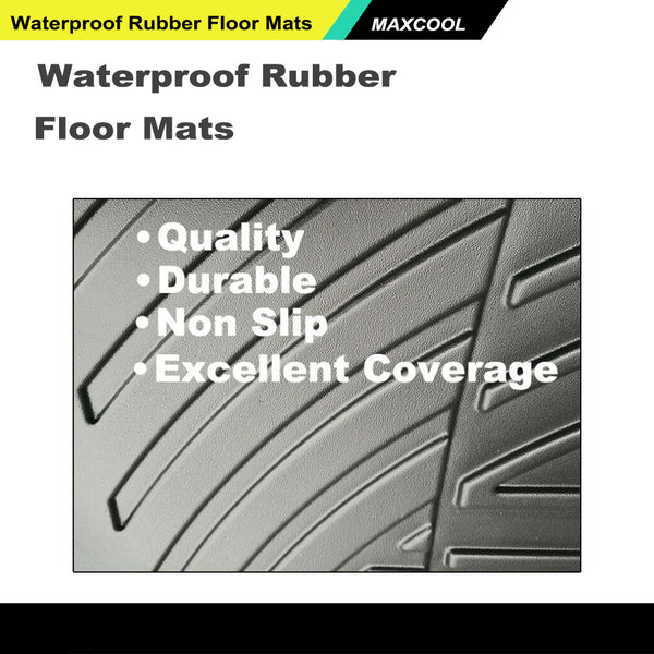 3D Rubber Floor Mats Waterproof to suit Isuzu D-max Dmax 2012-2019
