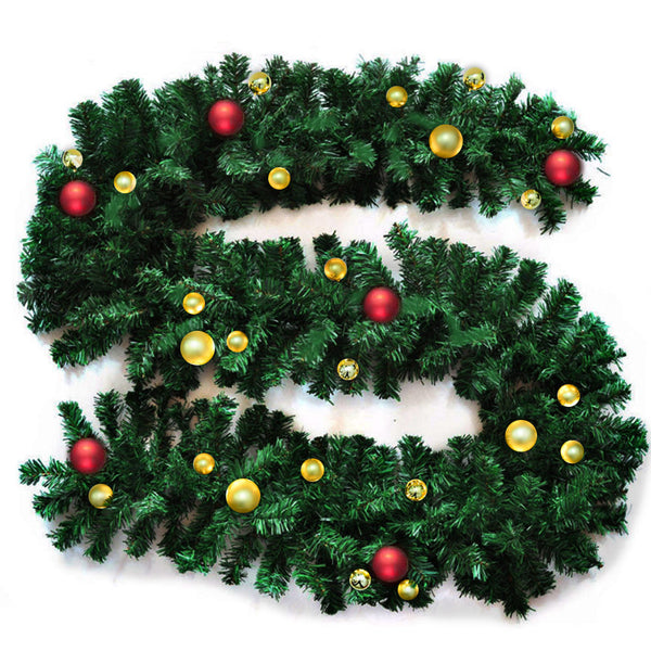 Christmas Decoration Wreath Garland Fireplace Mantel Tree Pine Green 2.7M X 25CM