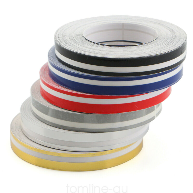 2 Roll 9.8m Pinstripe Solid Pinstriping Tape Vinyl Car Decal Sticker Glossy