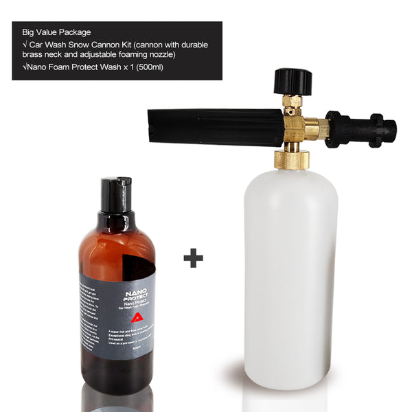 Pressure Washer Snow Foam Gun Car Wash Bottle Lance for Karcher K2 K3 Series+Car Wash Snow