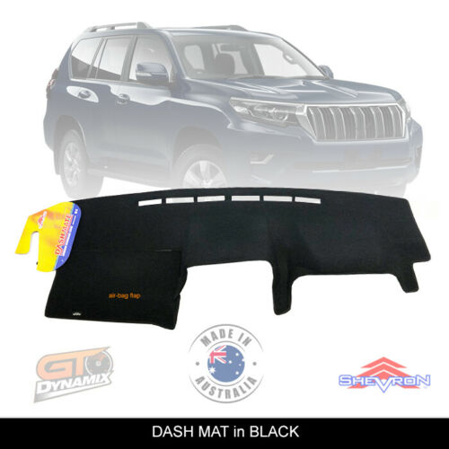 DASH MAT fits for Toyota Prado 150 Series GDJ150R 11/2017-2020 GX GXL DM1509 BLACK