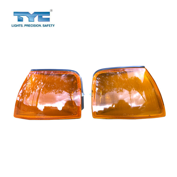 FITS Set Pair LH+RH Corner Light Indicator Lamp Amber For Ford Falcon EA EB ED 88~94